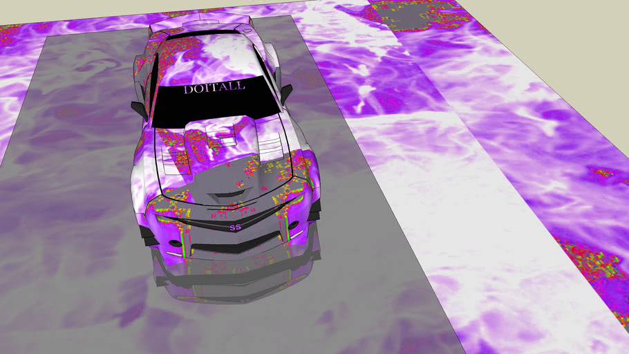 SS CAMARO WITH LIGHT PURPLE  FLAME PAINT MIRRORED  BY  DOITALL ORIGINAL CAR  BY MIRZA & SERGEO