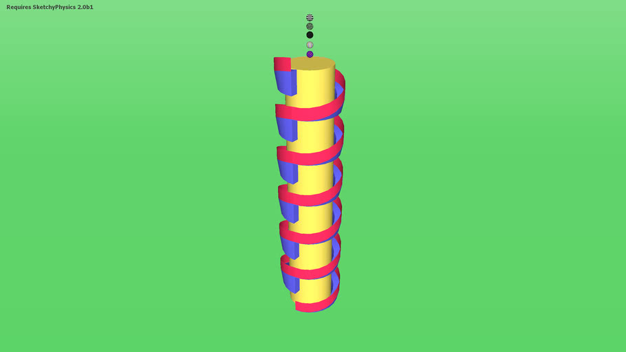 Simple Spiral ball slide v. 1