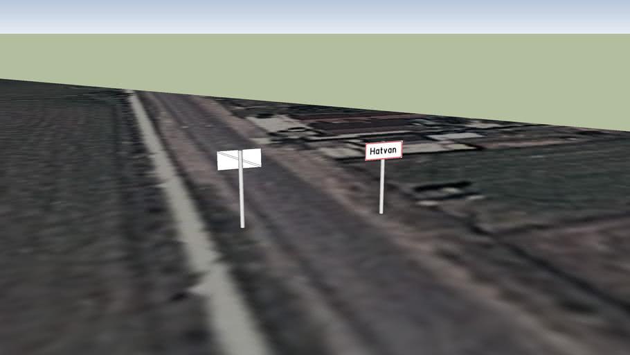 Hatvan település táblák - Csányi út