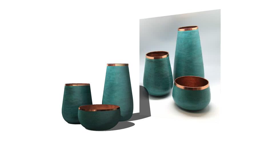 vasos cachepot potes