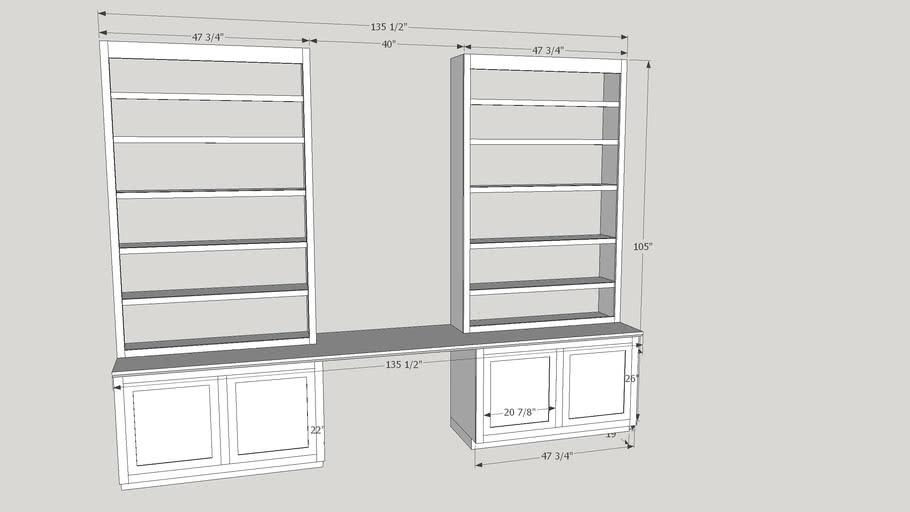 Built-in Study Shelves