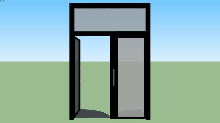Black Metal and Glass Double Doors