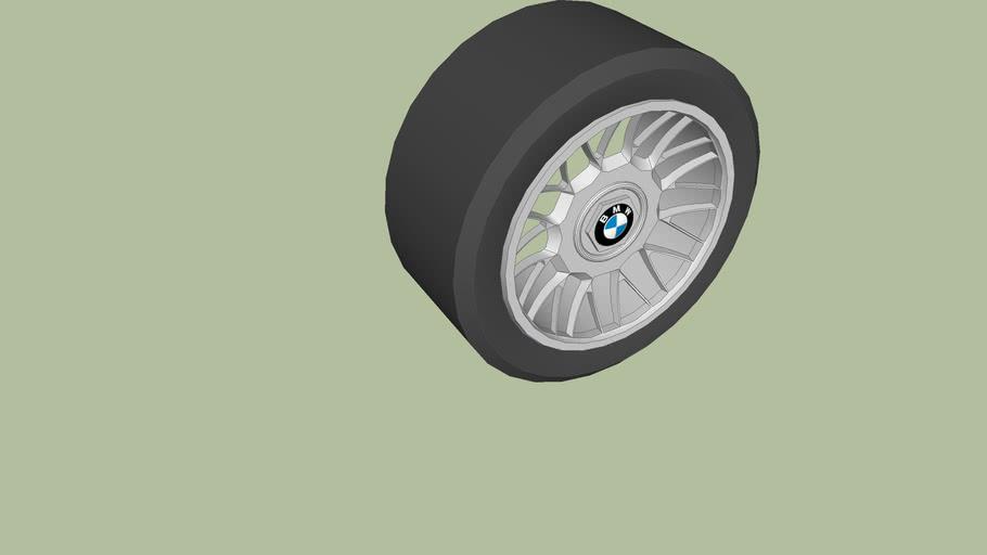 Sports car BMW racing rim