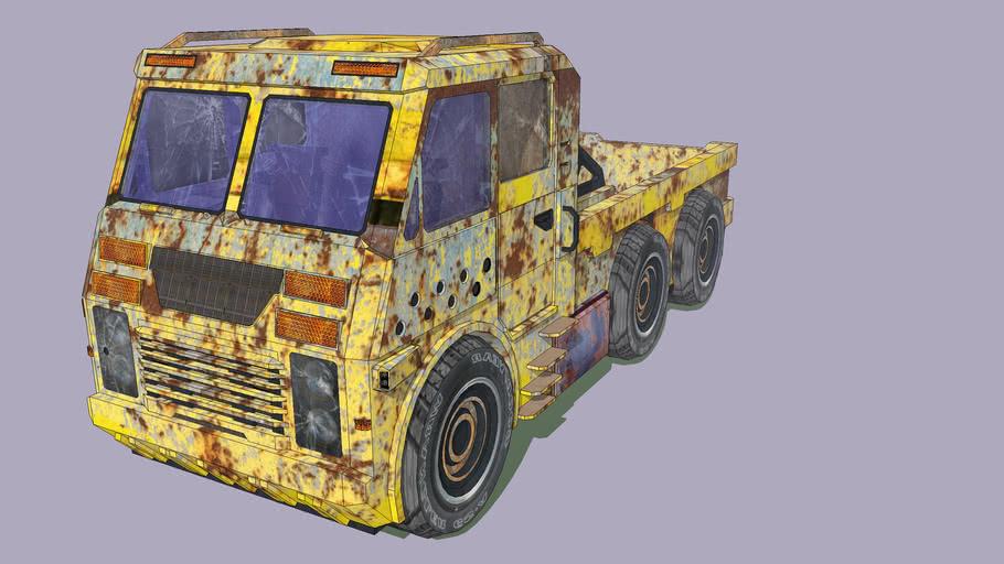 Truck with Grunge Texture