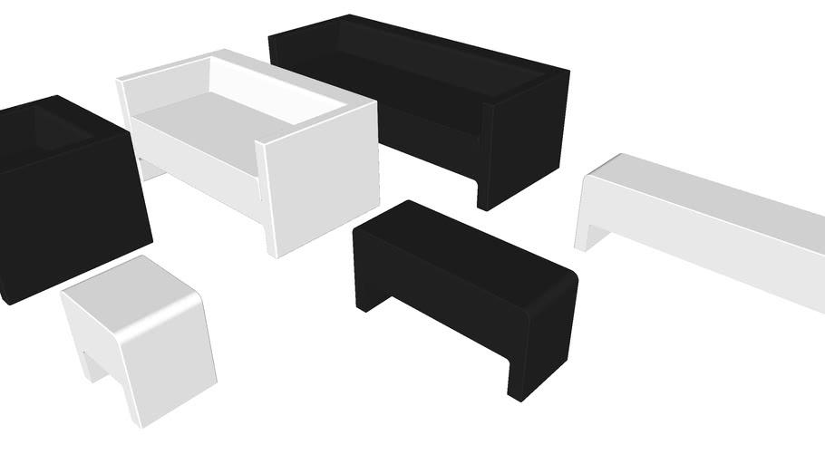 Davos Sofas, Armchair and Benches