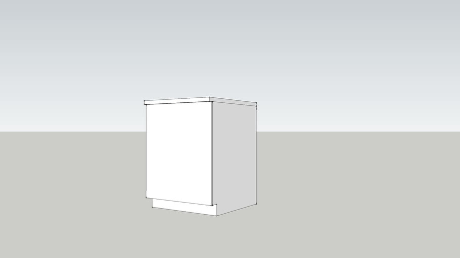 GZ 70 base-w60 shelf-white
