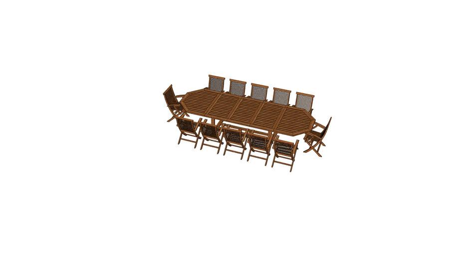Tavolo in teak 12 posti