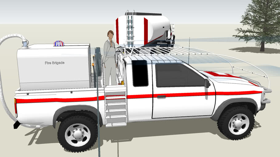 Fire truck using a pick-up concept