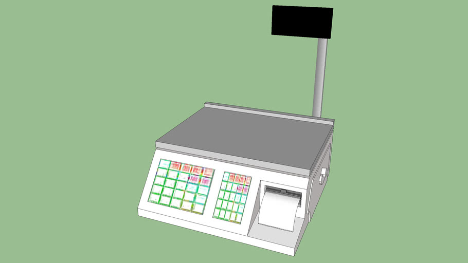 Commercial Retail Food Scale With Printer