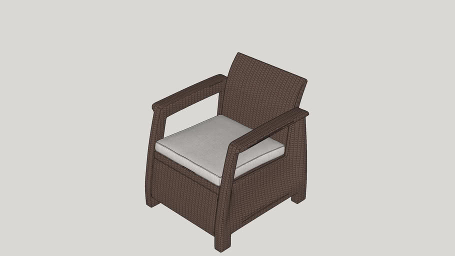 Colona All Weather Outdoor Arm Chair with Cushion