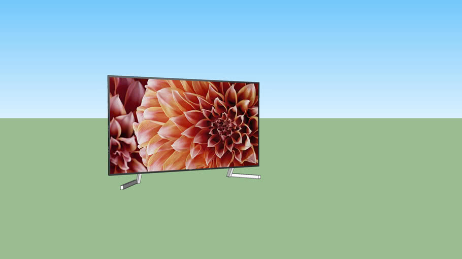 "Sony 85"" TV with and without stand"