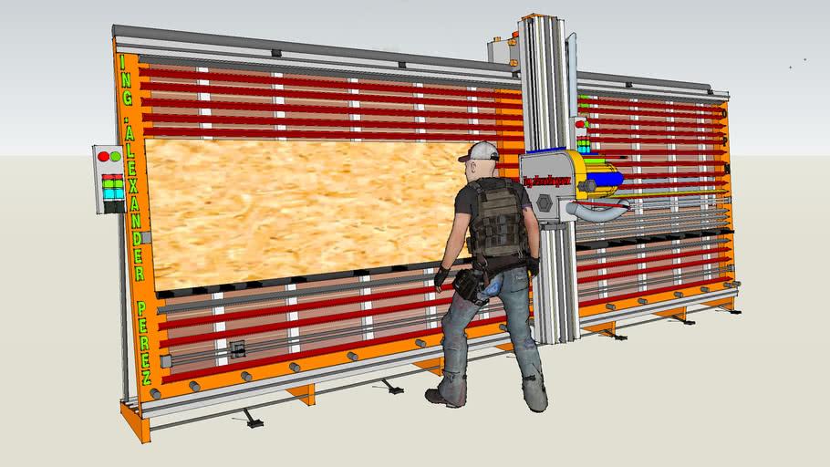 sierra vertical con operados