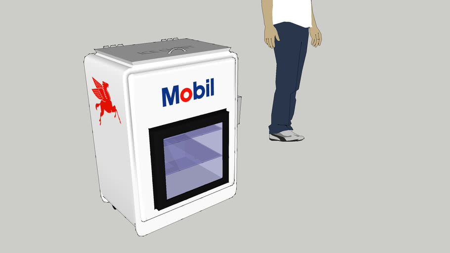 "Mobil Themed Soda Cooler -""Jr."" Ice Chest"
