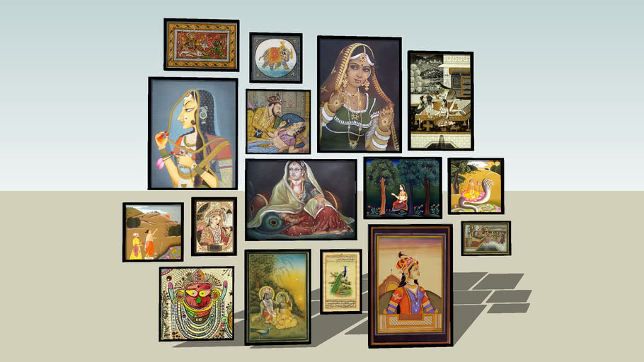 Set of Indian paintings