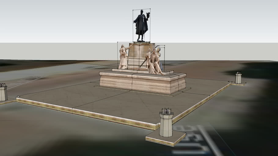 Statue of Lajos Kossuth, Klauzál Square - Szeged