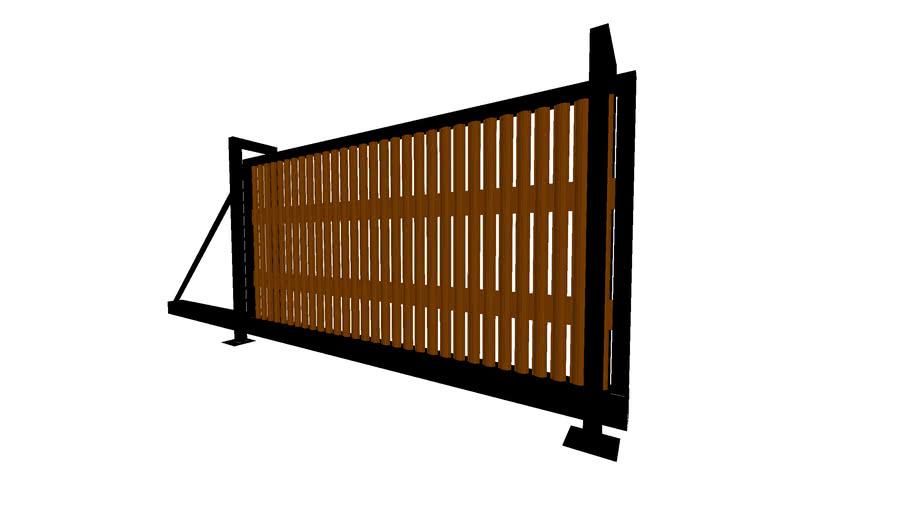4м откатные ворота, штакетник, koneslonpro