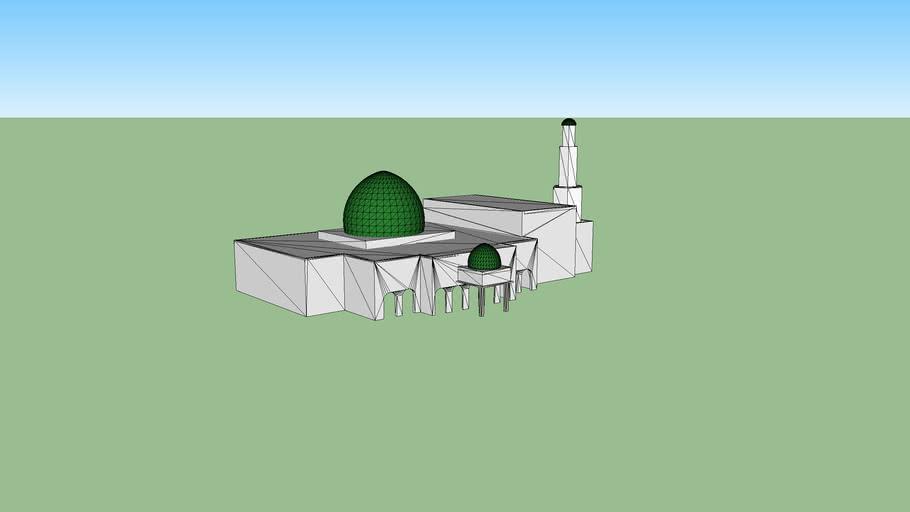 sketsa Masjid  Hunto