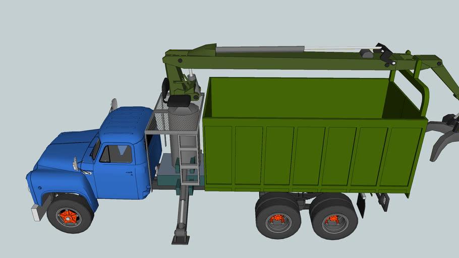 old crane truck