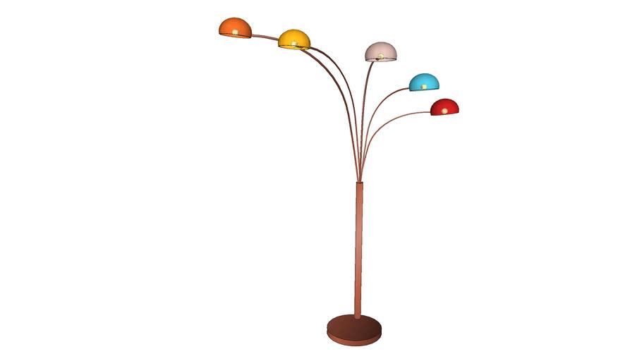 36369 Floor lamp Five Fingers Copper Coloured (SL Five Fingers Copper Coloured)