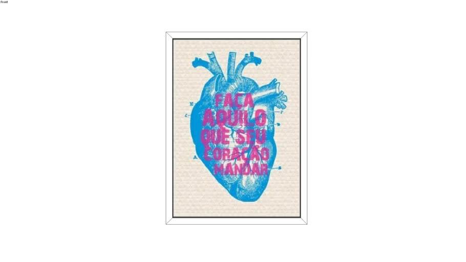 Quadro Nanus Store - Faça aquilo que seu coração manda