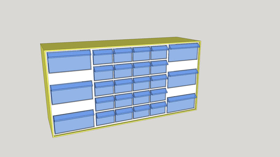 Plastic Small Parts Drawers Med