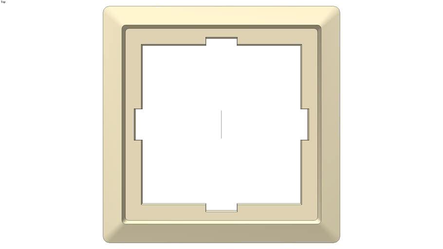 Artec frame, 1-gang, white