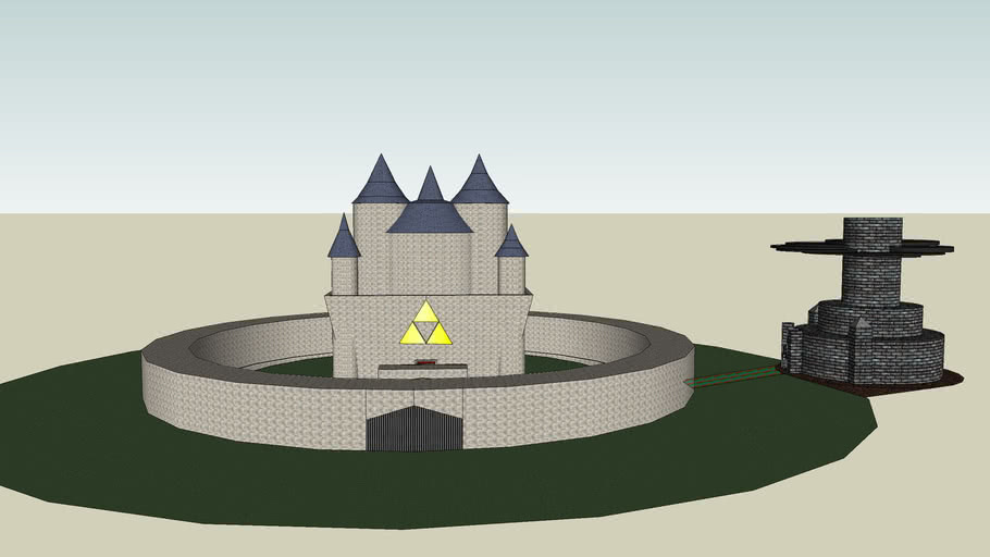 Hyrule and ganondorf's castle
