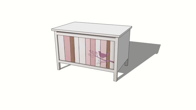 Coffre enfant rose et blanc VIOLETTE, maisons du monde, Réf. 143432, prix 119,90 €