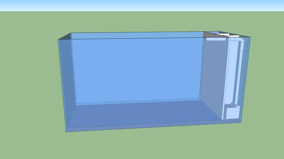 cuve aquarium et filtre
