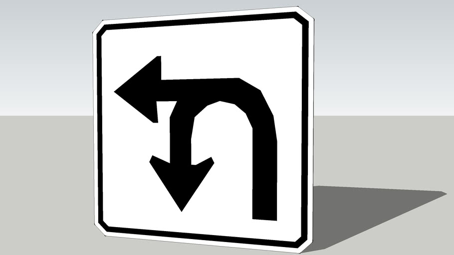 Left and U-turn sign