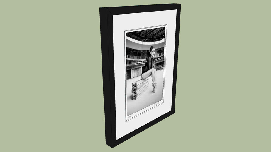 "BRODZIAK ""Ballerina #08"" 36x47 cm - Black&White, Photography, Image, Picture"