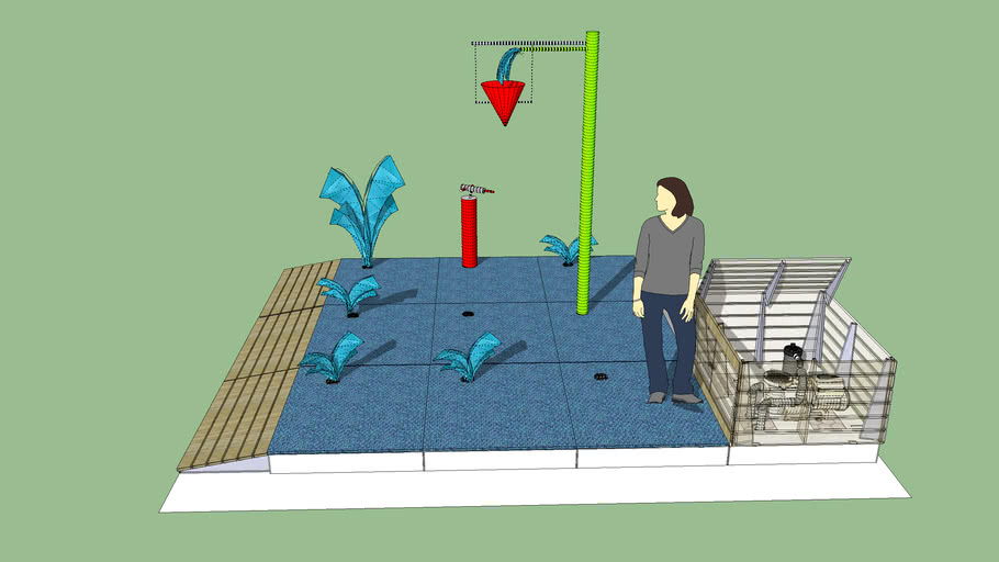Instasplash Splash Pad - 3 x 3 modules with ramps