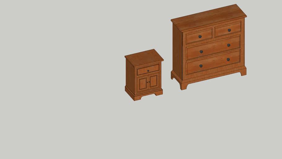 Comoda e Criado Mudo do Quarto Casal - Dresser and Bedside Young persons