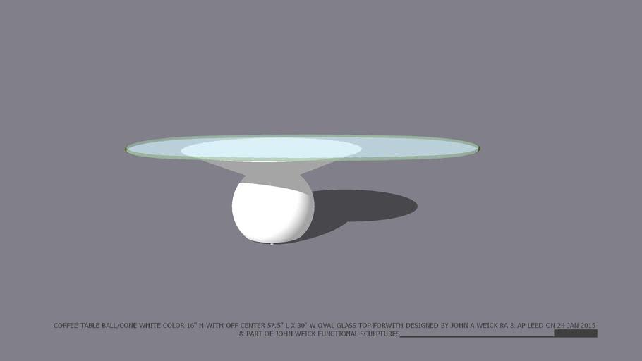 Coffee Table Ball Cone Base 16 High