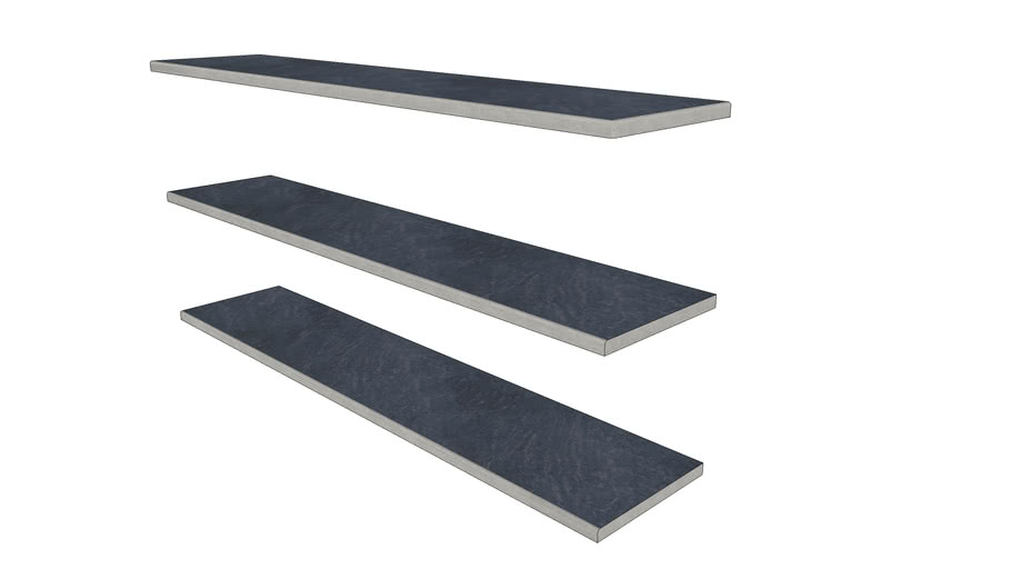 Versil Porcelain Steps 1194 × 250 with  20mm Bullnose Edge