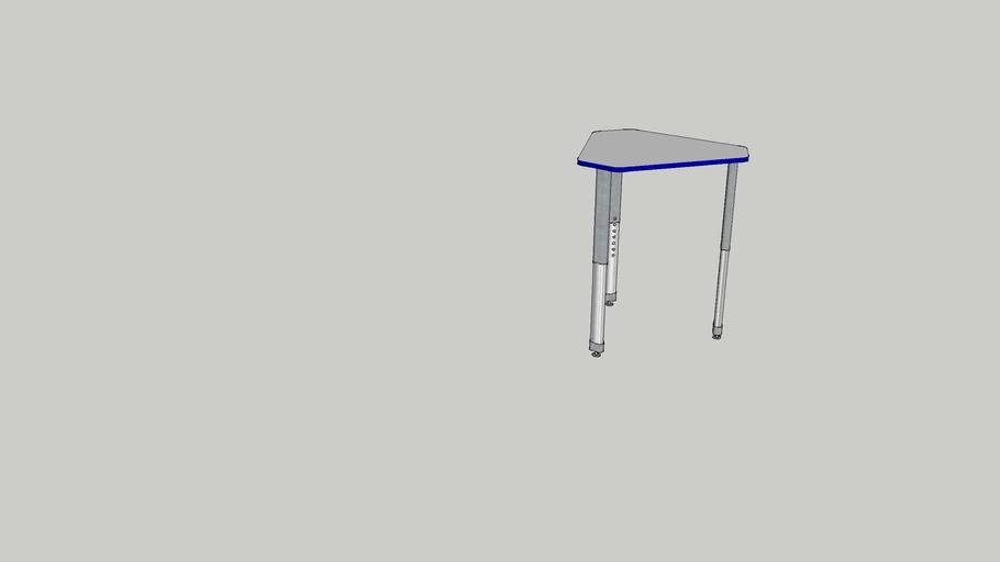 Smith System Interchange Single Student Diamond Desk