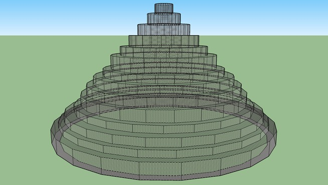 round pyramid fenced