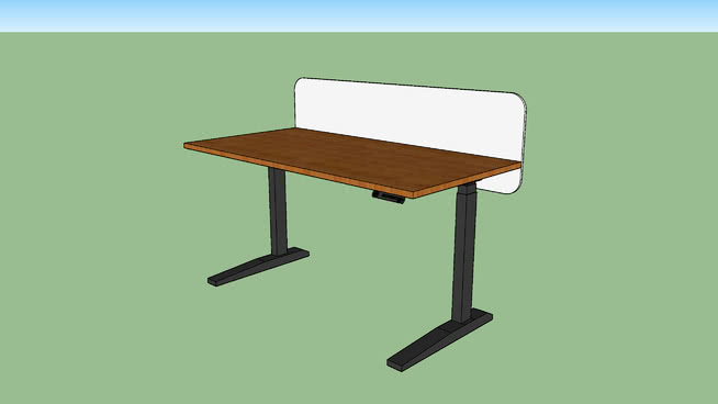 Jarvis Standing Desk 60 X 30 With Privacy Panel