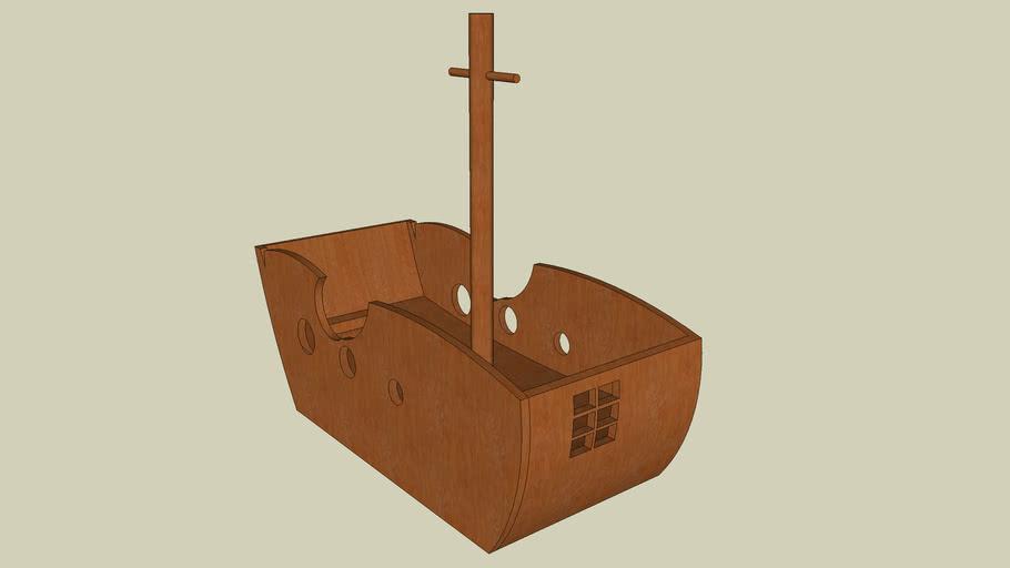 Small Pirate Boat - Sketchup 5.