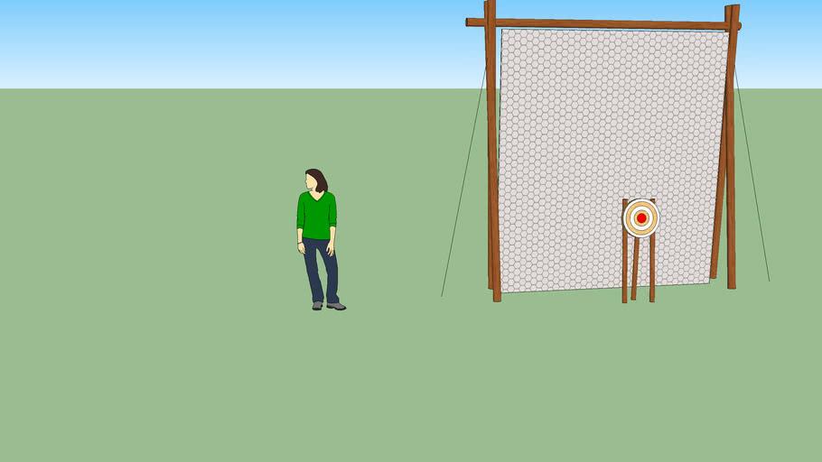 Bogen Zielscheibe mit Fangnetz 3 x 3,3