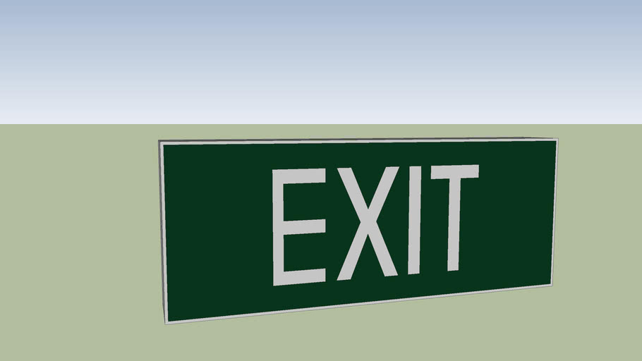 exit sign - bardic