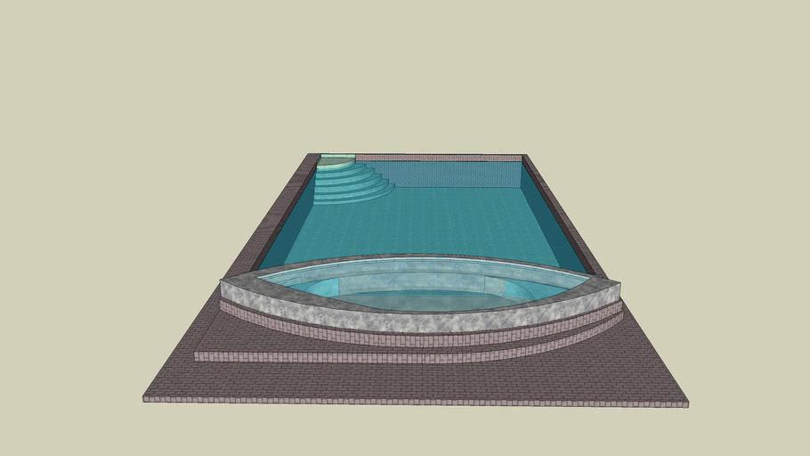 Bathtub and swimmingpool.By Djourney