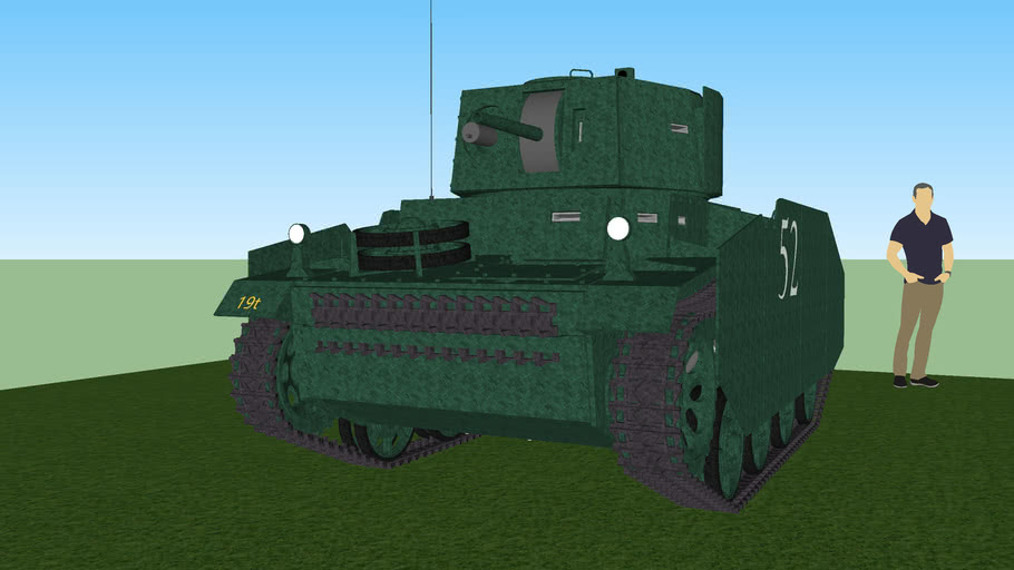 Light tank with added armor (bolted)