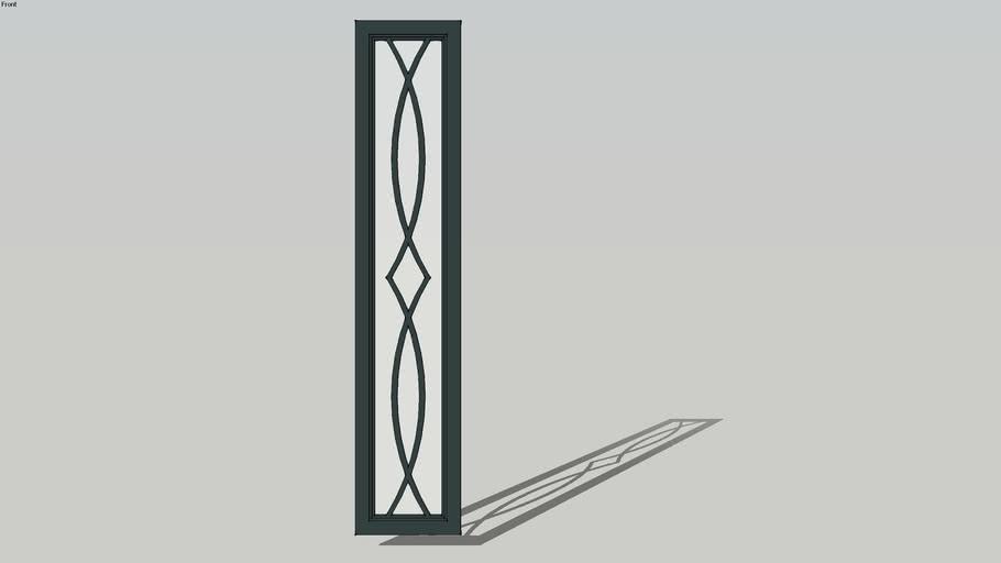 carved door-درب ویترین