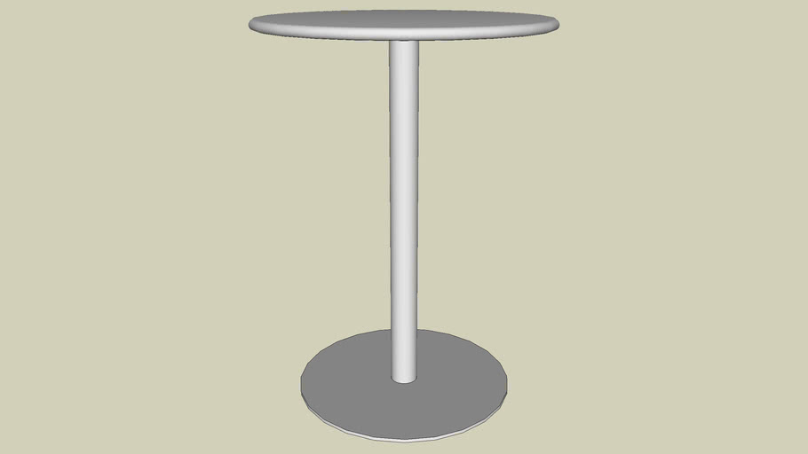 """Forms+Surfaces® Column Table, bar height, 30"""" round table top, 24"""" base"""