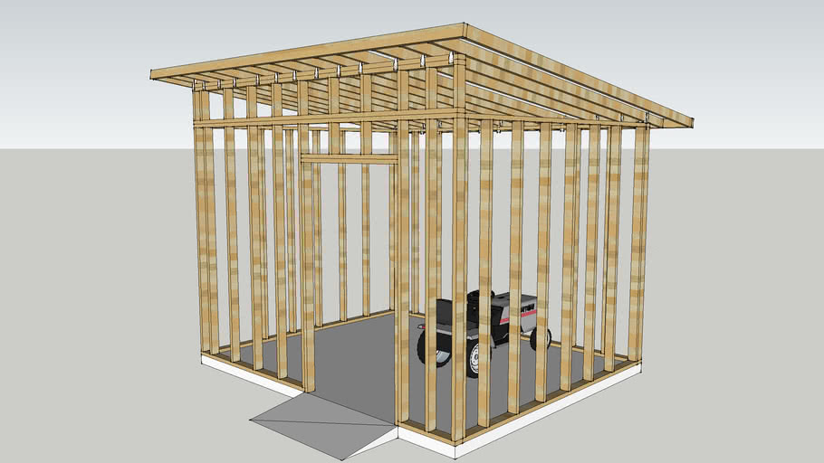 Modern Shed Framing Structure On