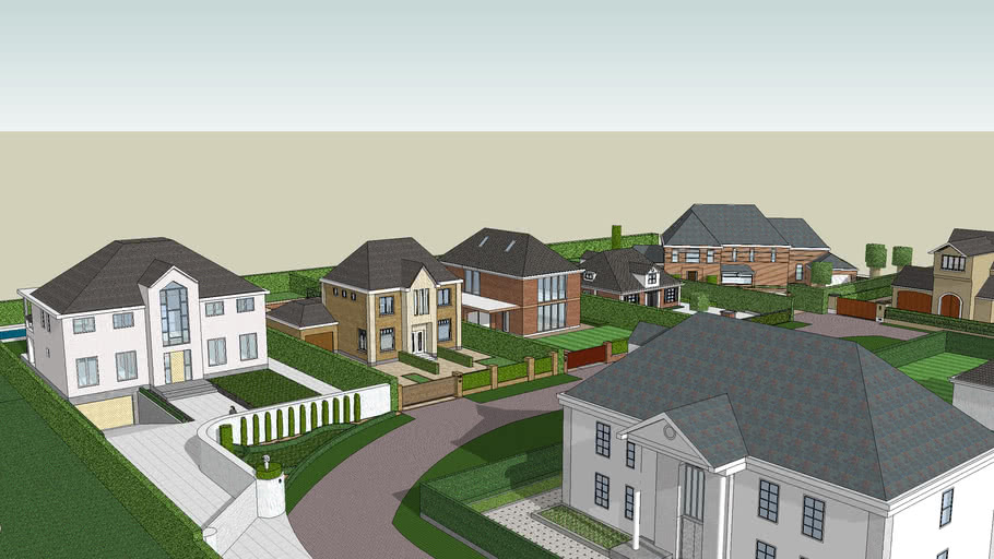 Upscale residential area