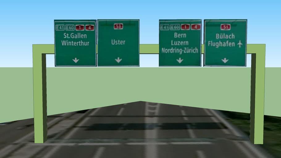 Autobahn Tafel A1L