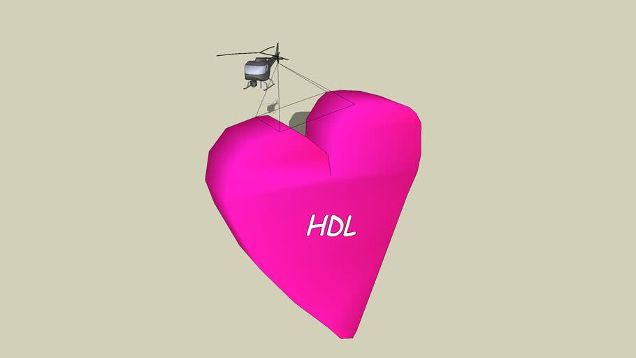 Herz am Hubschrauber