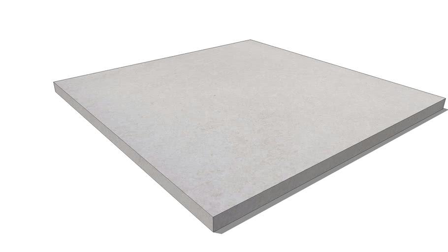 Ebema tegel. Megasmooth. Grey Velvet. 100x100x4 cm.